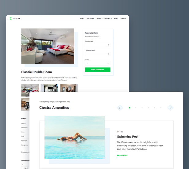 Ciestra - Resort WordPress Theme