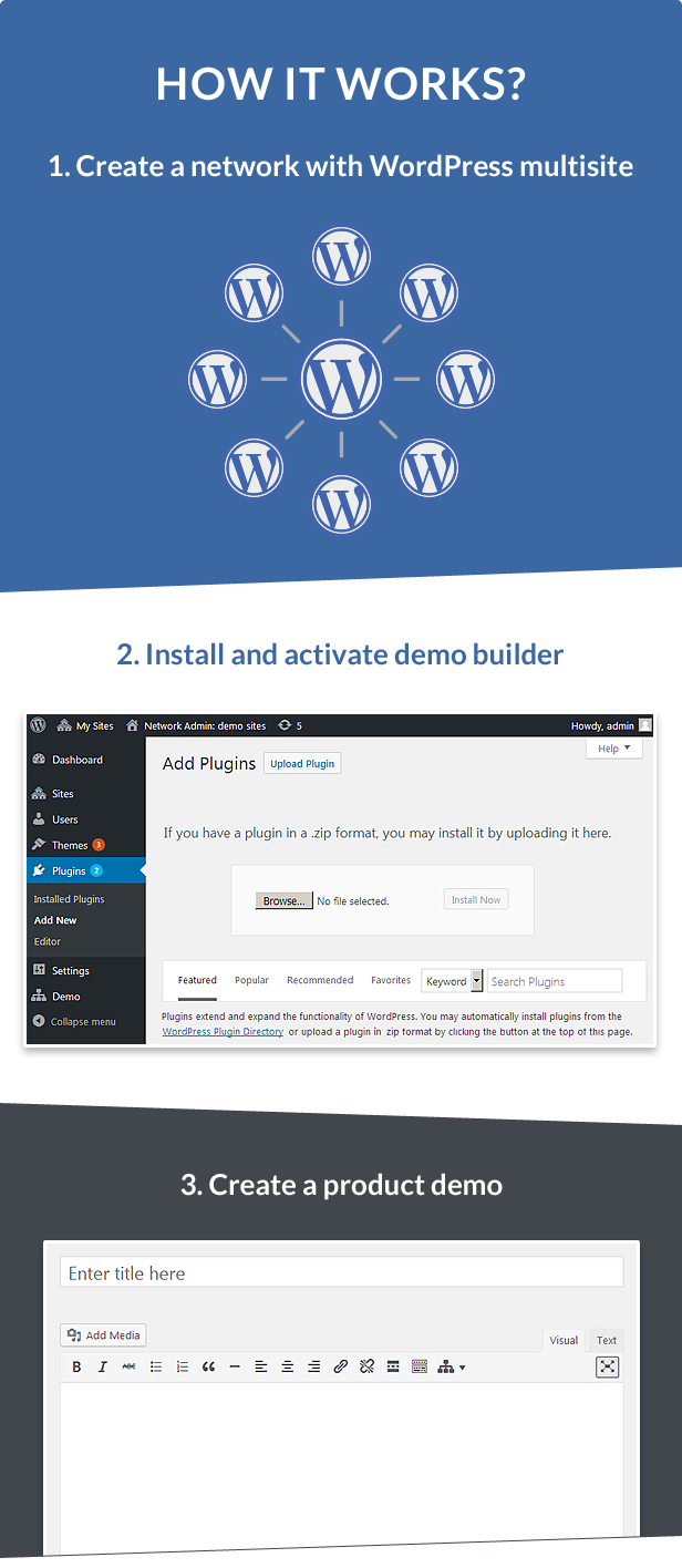 Demo Builder for any WordPress Product - 2