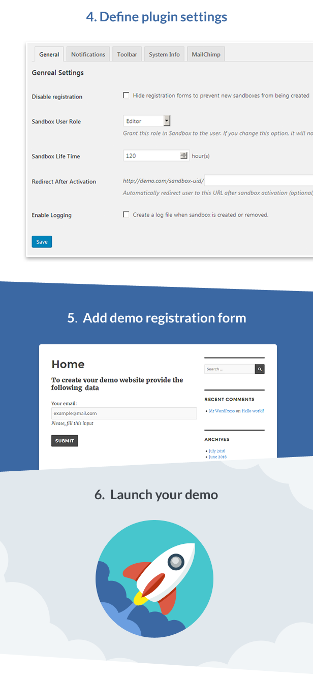 Demo Builder for any WordPress Product - 3