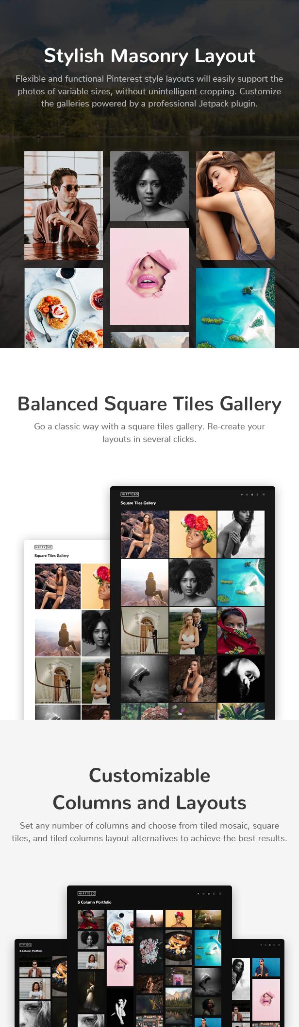 Nifty Fifty Photography WordPress Theme - 4