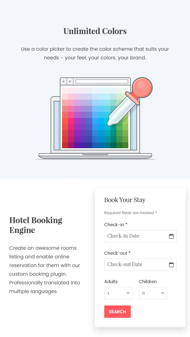 WordPress Hotel Theme - Oceanica - 5