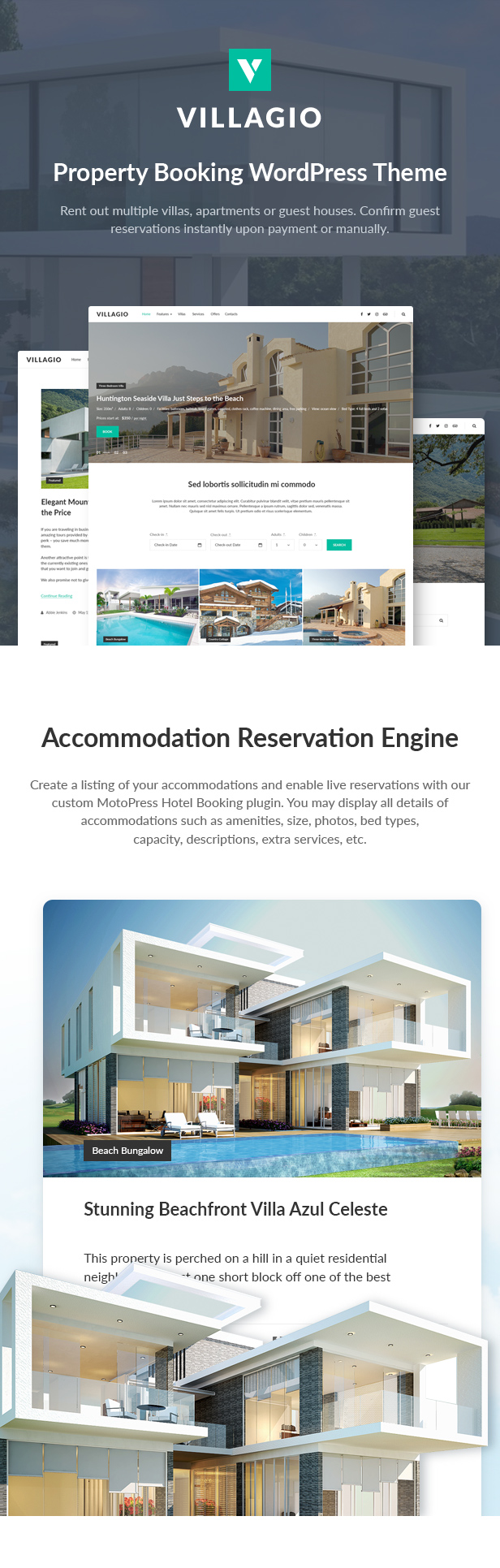 Villagio - Property Rental WordPress Theme - 2