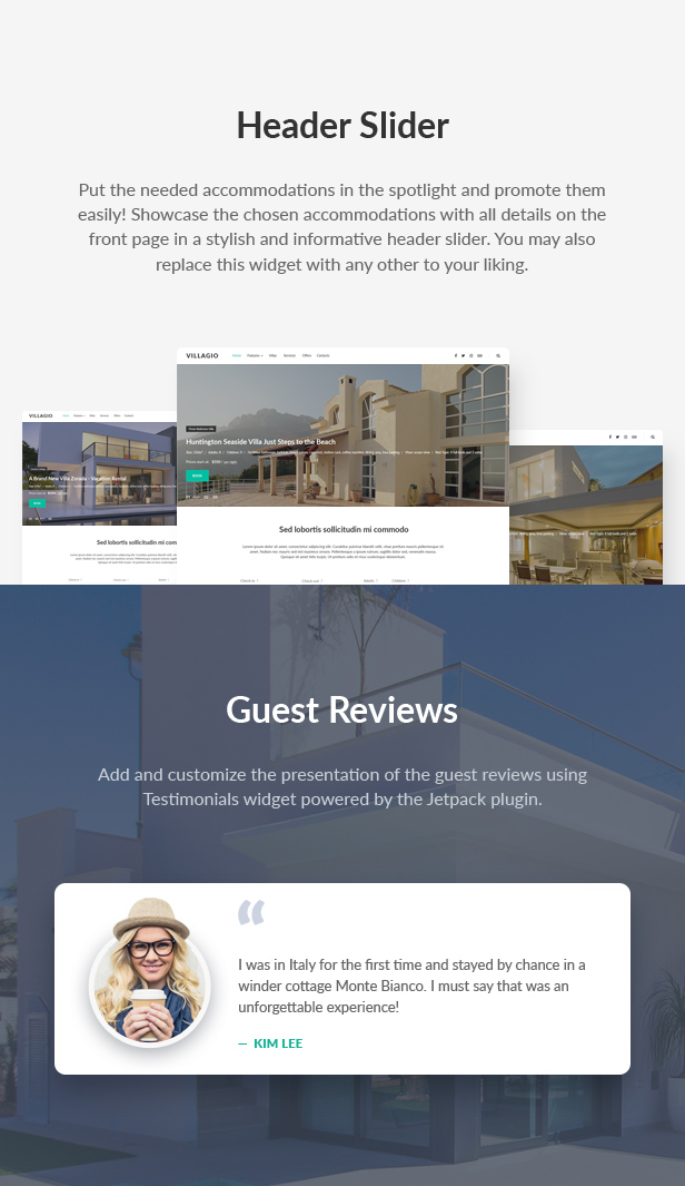 Villagio - Property Rental WordPress Theme - 8